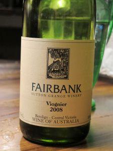 Sutton Grange Winery 'Fairbank' Viognier 2008