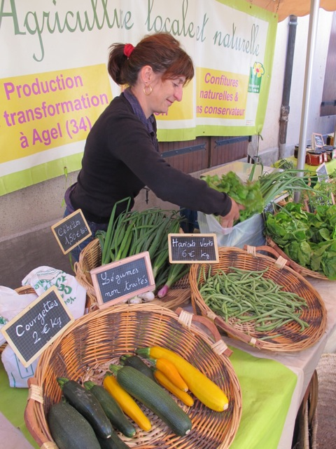 Valerie at the yesterday's market