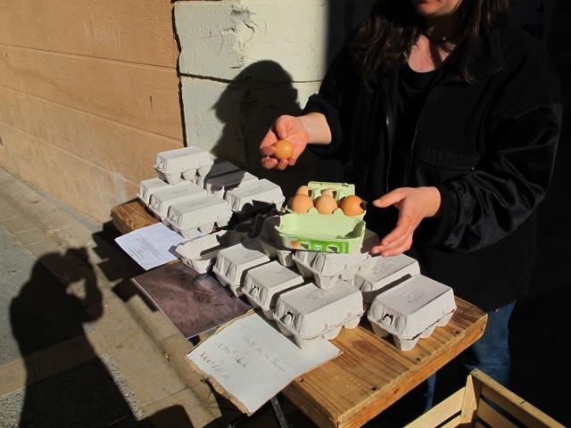 free-range eggs chez Laetitia