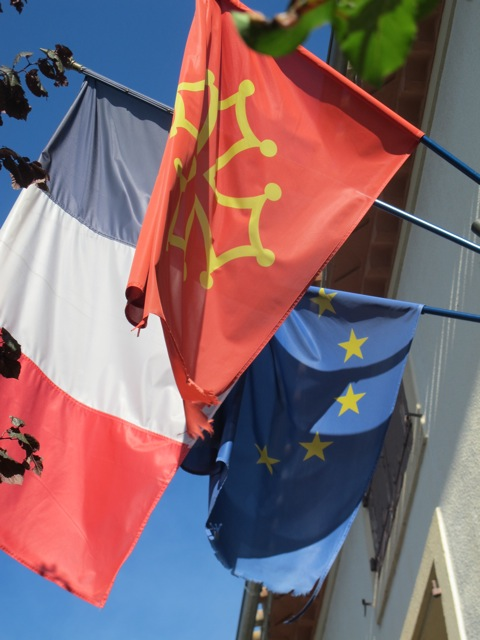 flags at the local mairie