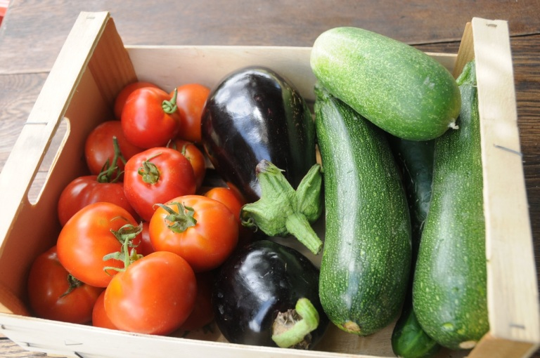 vegie's from our neighbours