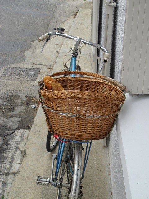baguette in a basket