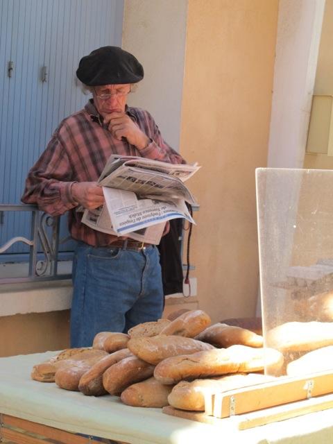 baker at the market