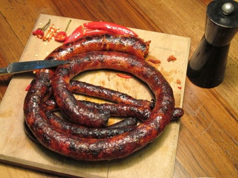 barbecued country sausage
