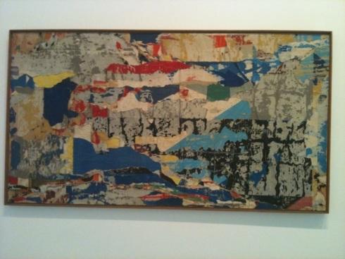 'Bleu d'aout', Jacques Villegle, 1961