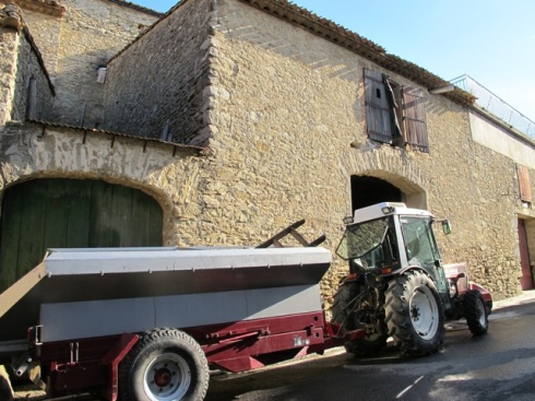 tractor in the village 2