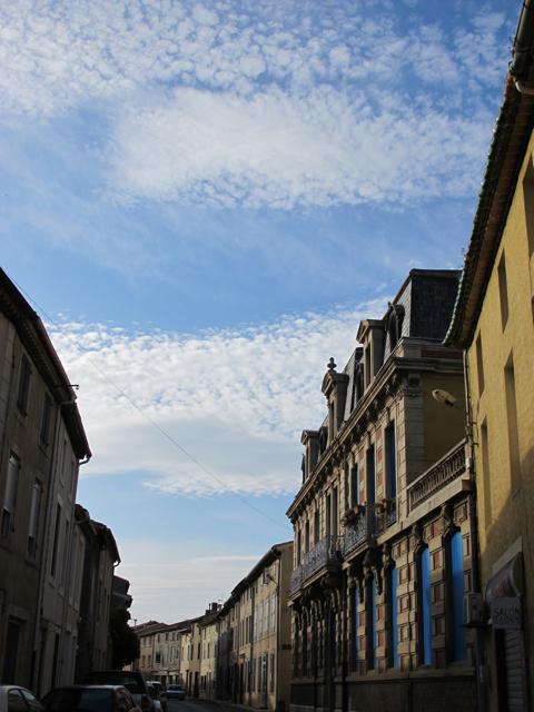 blue sky in Olonzac