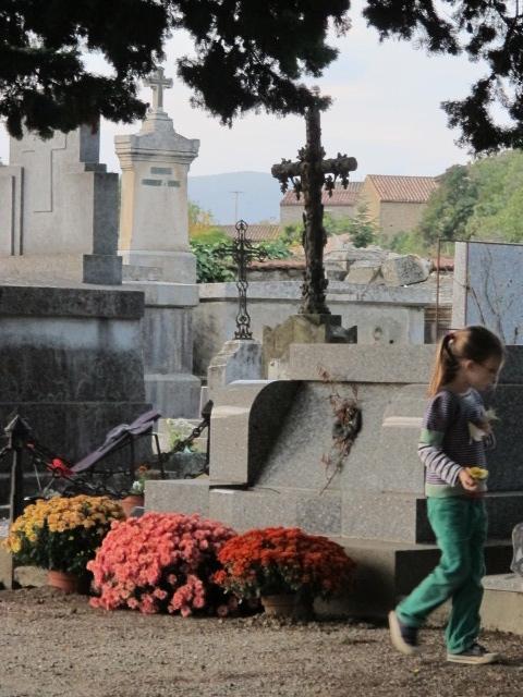 Lilas in La Liviniere's cemetery