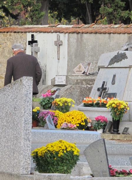 monsieur in cemetery