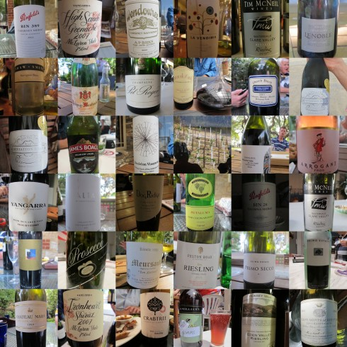 some of the wines drunk