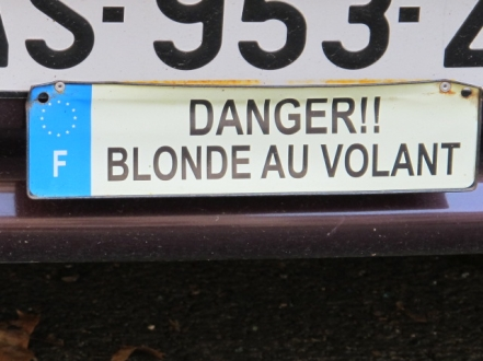 DANGER!!  Blonde behind the wheel