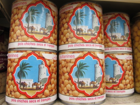tins of pois chiches
