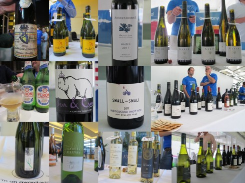 some of the wines on show