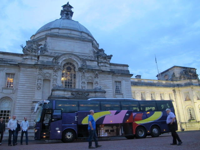 the bus in Cardiff
