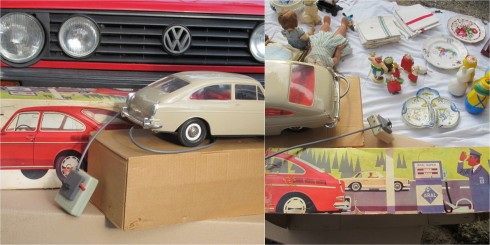 vw car collage