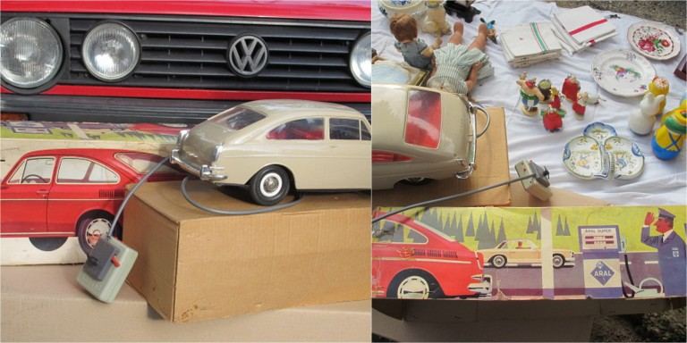 vw car collage