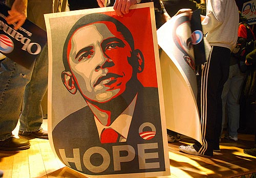 Barack Obama - Hope (from an article by Nicolas Maillard)