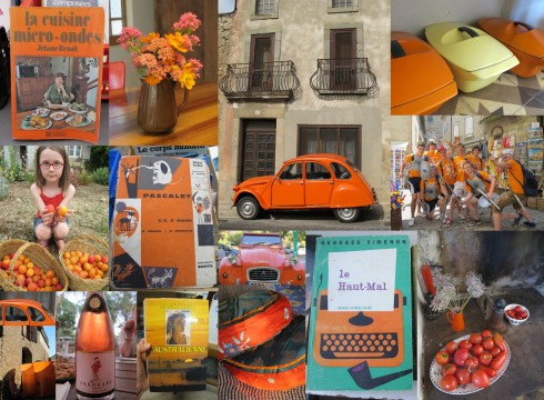 Orange collage