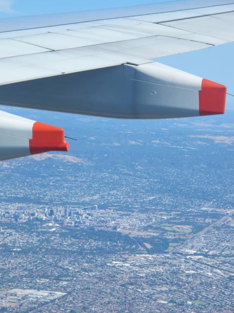 flying in to Adelaide