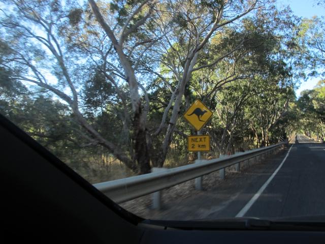 yeah, yeah, a kangaroon crossing.  yawn yawn!