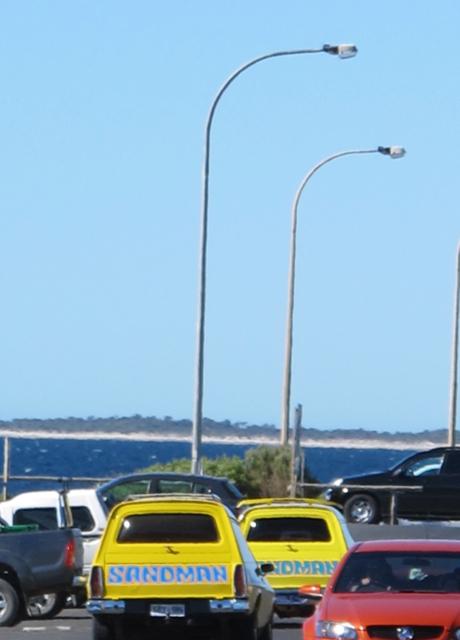 New Year's day 2013, beach car park