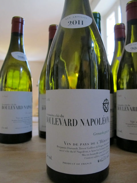 the empties:  the Boulevard Napoleon Grenache Gris white and a few reds...