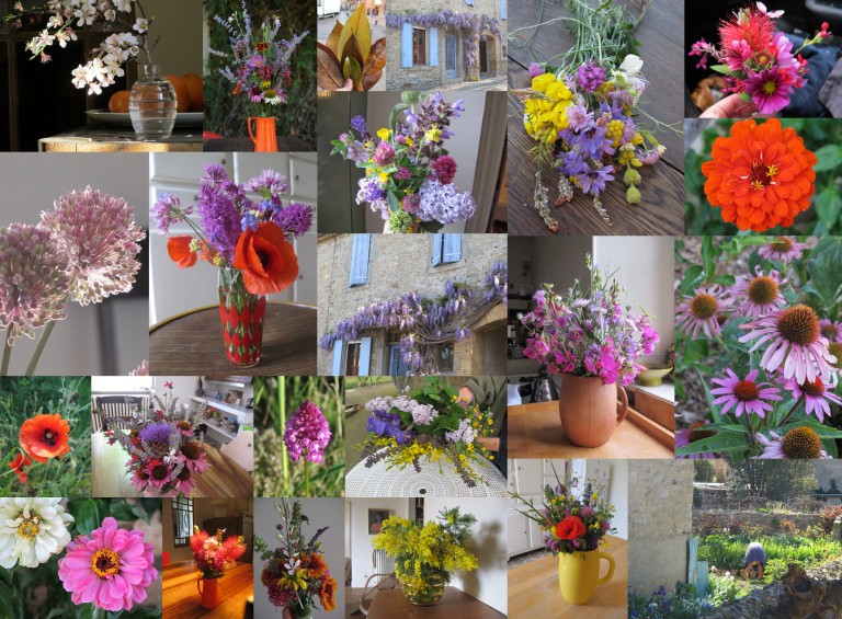 a cheesy flower collage (from last year's pickings)