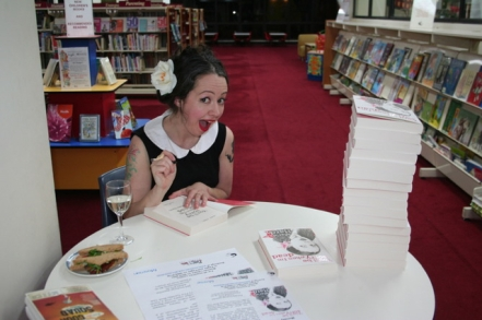 "Marieke Hardy at her book signing for ""You'll Be Sorry When I'm Dead"", at Mosman Library on Monday 19 September (photo courtesy of the Mosman Library)"
