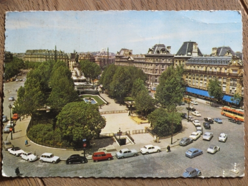 Paris postcard found at a 'vide-grenier' - 'Place de la Republique'