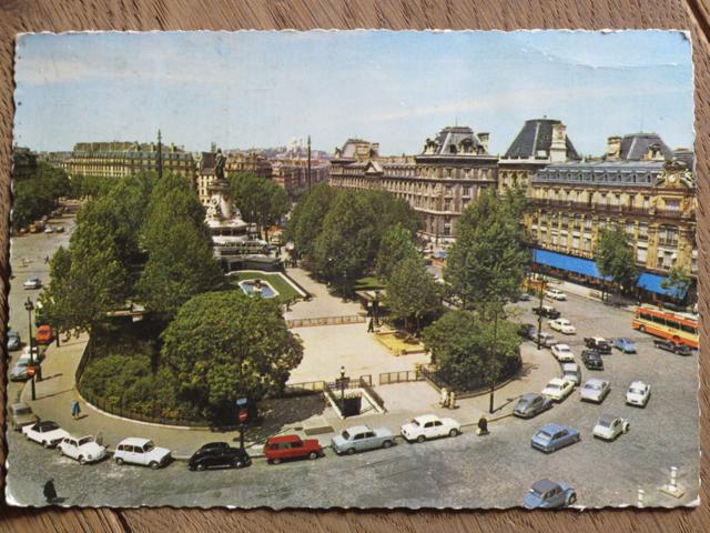 Paris postcard found at a 'vide-grenier' - 'Place de la Republique'