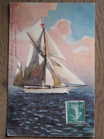 sailboat postcard